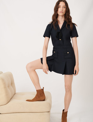 Maje College-style dress with fancy buttons