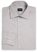 Giorgio Armani Modern-Fit Check Dress Shirt