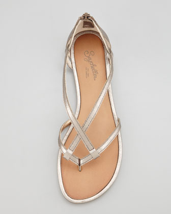 Seychelles Time After Time Metallic Thong Sandal