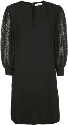 Givenchy Lace Sleeves Shift Dress