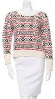 Sandro Wool-Blend Patterned Sweater