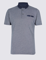 Limited Edition Pure Cotton Slim Fit Textured Polo Shirt