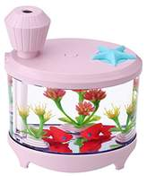 Longlove Mist Humidifier Fish Tank Thanksgiving Gifts Christmas Present Light USB Personal Car Humidifier Quiet Automatic Shut-Off for Kids Baby Car Desk (pink)