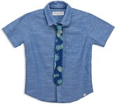 Sovereign Code Boys' Chambray Shirt & Printed Tie - Big Kid