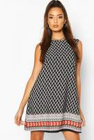 boohoo Paisley Sleeveless Shift Dress