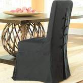 Pacific Beach Parsons Upholstered Dining Chair Padmas Plantation Finish: Black