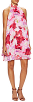 Eliza J Floral Print Back Keyhole Shift Dress