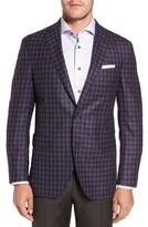 David Donahue Men's Ashton Classic Fit Check Wool Sport Coat
