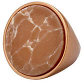 Pilgrim Conscious Rostone Rose Goldtone Statement Ring