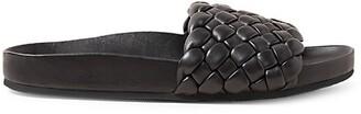 Loeffler Randall Sonnie Woven Leather Slides