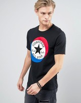 Converse T-Shirt With Large Circle Logo in Black 10003901-A02