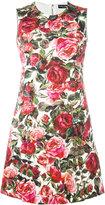 Dolce & Gabbana rose brocade dress - women - Silk/Cotton/Spandex/Elastane/Viscose - 40