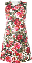Dolce & Gabbana rose brocade dress - women - Silk/Cotton/Spandex/Elastane/Viscose - 44