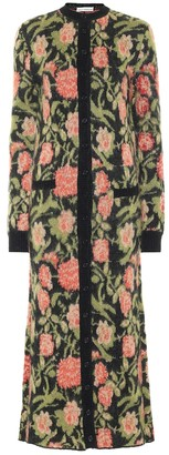 Paco Rabanne Floral mohair-blend maxi cardigan