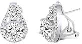 Bliss Cubic Zirconia & Silvertone Teardrop Stud Earrings