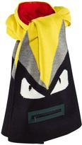 Fendi Navy and Yellow Monster Scarf