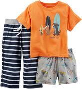 Carter's 3-pc. Surf Dogs Pajama Set - Baby Boys 12m-24m