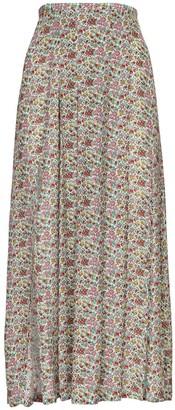 Rixo Georgia Printed Silk Blend Midi Skirt
