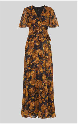 Whistles Wrap Devore Maxi Dress