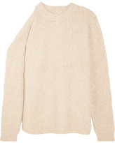 Tibi Cutout Knitted Sweater - Cream