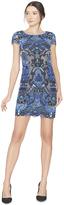 Alice + Olivia Nakia Boat Neck Cap Sleeve Midlength Dress