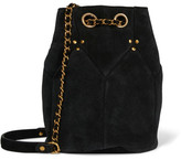 Jerome Dreyfuss Popeye Medium Suede Bucket Bag - Black