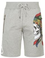 Philipp Plein Side Skull Print Shorts