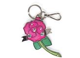 Prada Pink Saffiano Rose Keychain