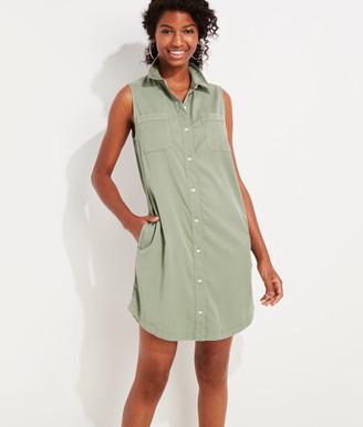 Vineyard Vines Garment-Dyed Sleeveless Margo Shirt Dress