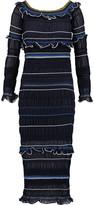 Peter Pilotto Atmos off-the-shoulder ruffled cotton-blend midi dress