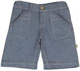 Nui Sale - Hone Chambray Striped Organic Cotton Bermuda Shorts