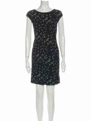 Max Mara Lace Pattern Mini Dress Blue