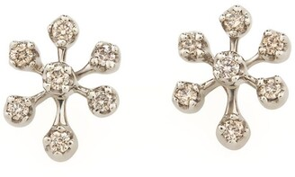 H.Stern Noble Gold and Diamond Snow Flake Earrings