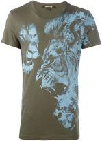 Roberto Cavalli doubl lion print T-shirt