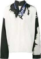 Haider Ackermann bleach print kimono shirt