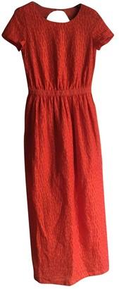 Sessun Red Cotton Dress for Women