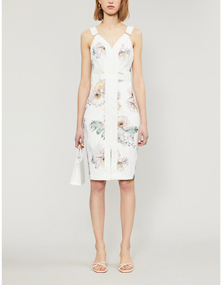 Ted Baker Woodland floral-print woven midi dress