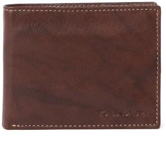 Tahari RFID Bifold Antique Leather Wallet