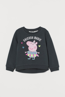H&M Sweatshirt with Sequins - Gray