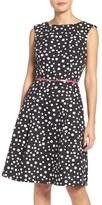 Adrianna Papell Women's Polka Dot Fit & Flare Dress