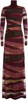 Emilio Pucci Turtleneck Maxi Dress with Virgin Wool