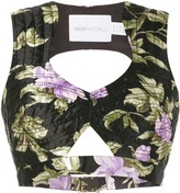 Alice McCall Wild Flowers cropped top