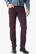 7 For All Mankind Luxe Performance Sateen The Straight In Eggplant