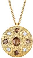 De Beers Small Yellow Gold Talisman Medal Necklace