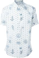 Alexander McQueen tattoo print button down shirt - men - Cotton - 48