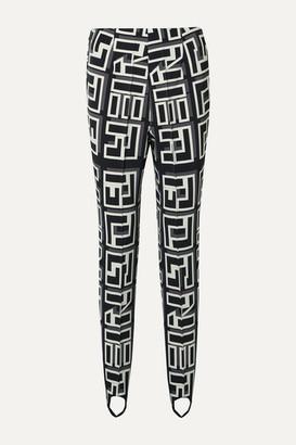 Bogner Elaine Printed Stretch Stirrup Ski Pants - Black
