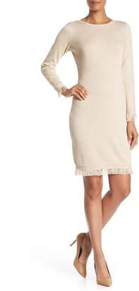 Nanette Lepore Nanette Fringed Sweater Dress