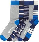 Howick 5 Pack Multi Stripe Socks