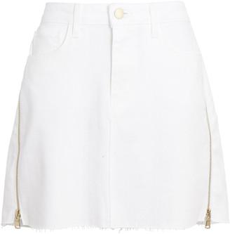 L'Agence Allegra Side Zip Denim Mini Skirt