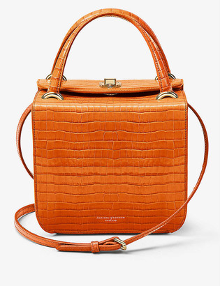 Aspinal of London Gigi crocodile-embossed leather bag